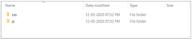 Bootstrap CSS & JS Folders