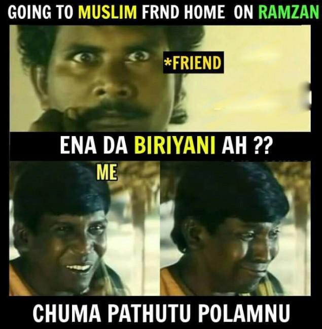 ramzan special meme ramzan funny meme ramzan briyani new meme tamil