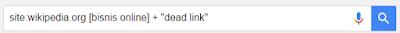 teknik seo untuk mencari dead link wikipedia dengan google