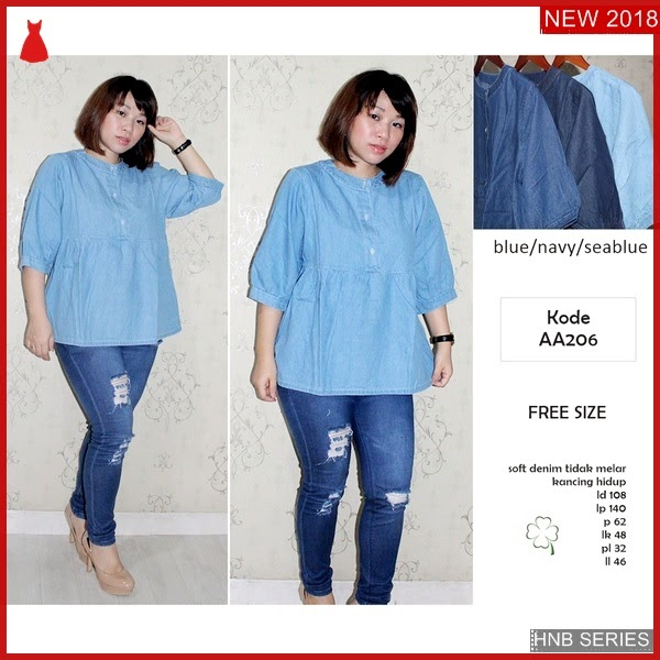 HNB246 Model Odela Blouse Bordir Ukuran Besar Jumbo BMG Shop