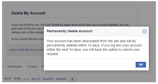Delete facebook account permanently without password learn delete facebook account permanently without password ccuart Image collections