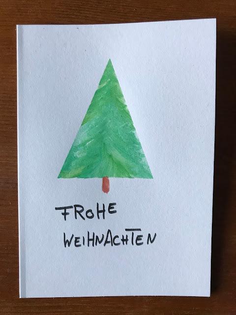 Weihnachtskarten selber basteln - Karte mit Weihnachtsbaum