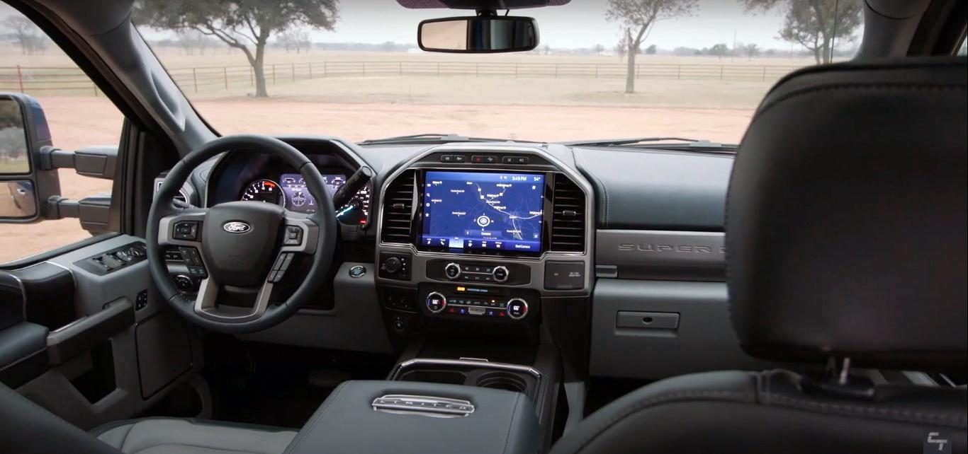 interior ford super duty 2022