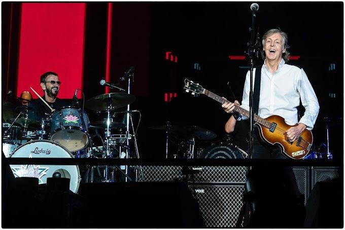 ポール・マッカートニーのロサンゼルス公演にリンゴ・スター サプライズ出演 ジョー・ウォルシュも
