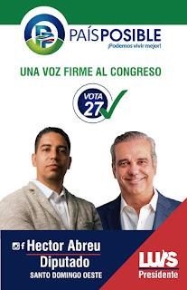 Candidato a diputado Héctor Abreu invita a los jóvenes a integrarse más a la política