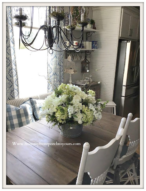 French-Farmhouse-French-Country-White-Hydrangea-DIY- Floral- Arrangement-From My Front Porch To Yours