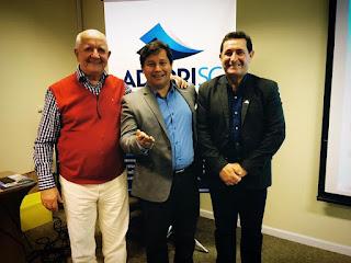 Ex-presidente da Adjori Brasil, Miguel Gobbi, Diretor da Adjori SP, Júpter Furquim e o Presidente da Adjori SC, José Roberto Deschamps