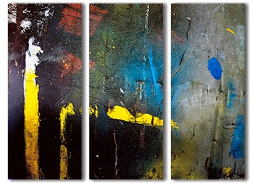 abstract, wall art, multi coloured, triptych, canvas print