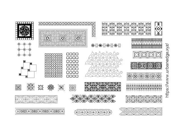 Arabic decorative jaali and pattern cad blocks download, 25+ free autocad patterns