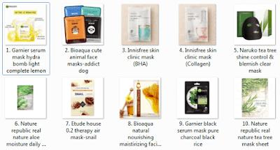 10 Rekomendasi Sheet Mask terbaik