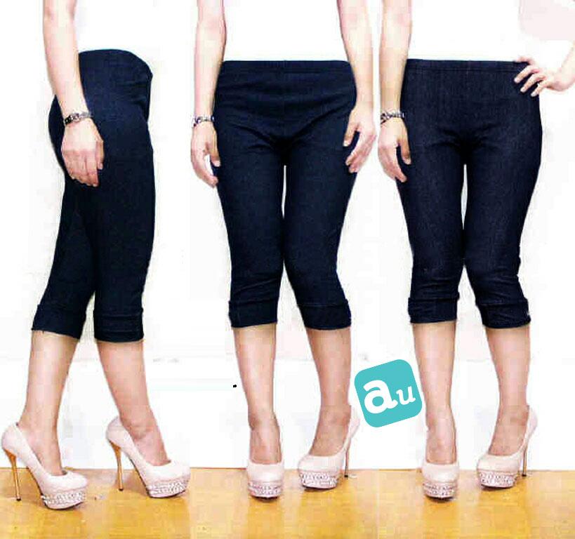 Jual Celana Pendek Legging 7/8 Stretch Jeans - 13240