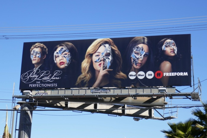 Pretty Little Liars Perfectionists series billboard