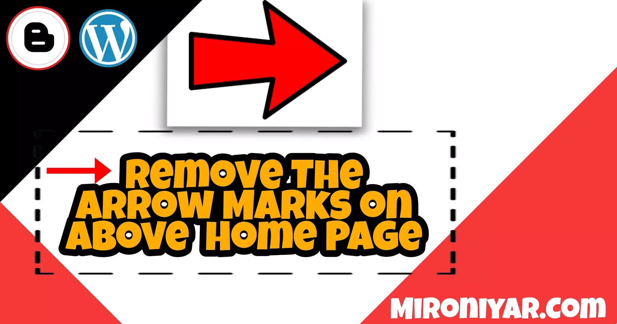 How To Remove The Arrow Marks on  Above Blog Page