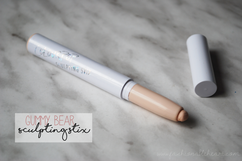 bbloggers, bbloggersca, canadian beautybloggers, colourpop cosmetics, sculpting stix, gummy bear, fair, porcelain skin, swatch, review