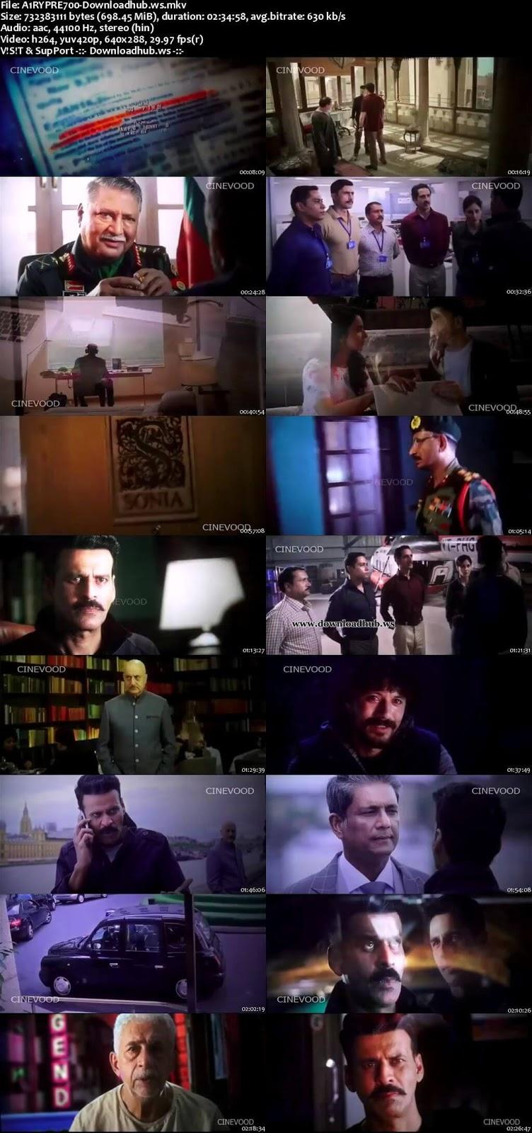 Aiyaary 2018 Hindi 700MB Pre-DVDRip x264