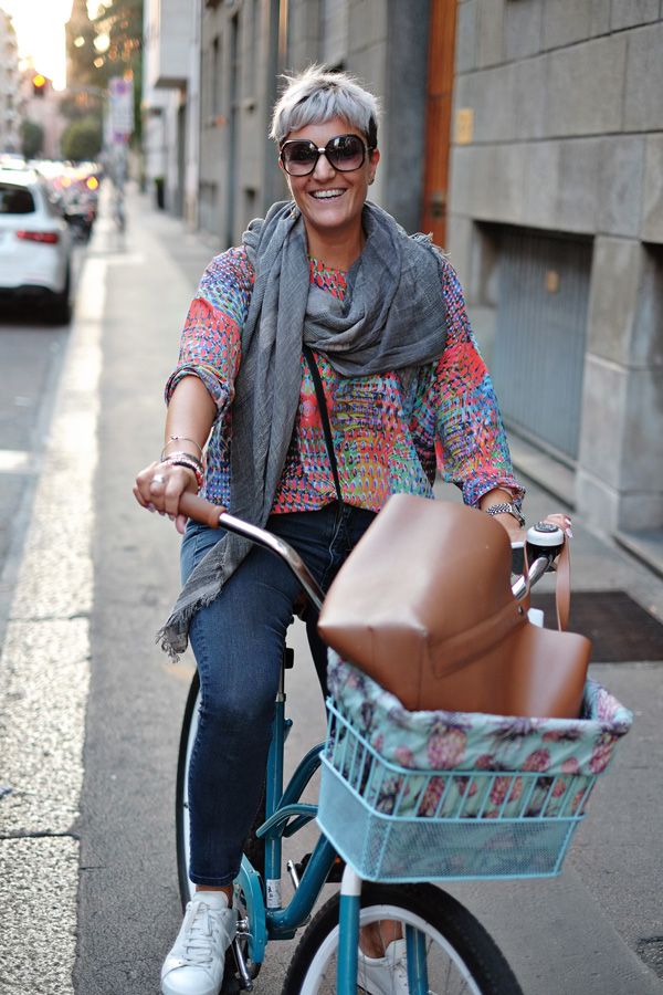 Milanese Cycle Chic - Street Fashion Sydney Milan Edition, photography by Kent Johnson.