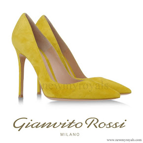 Crown Princess Mary wore Gianvito Rossi Pumps in Yellow