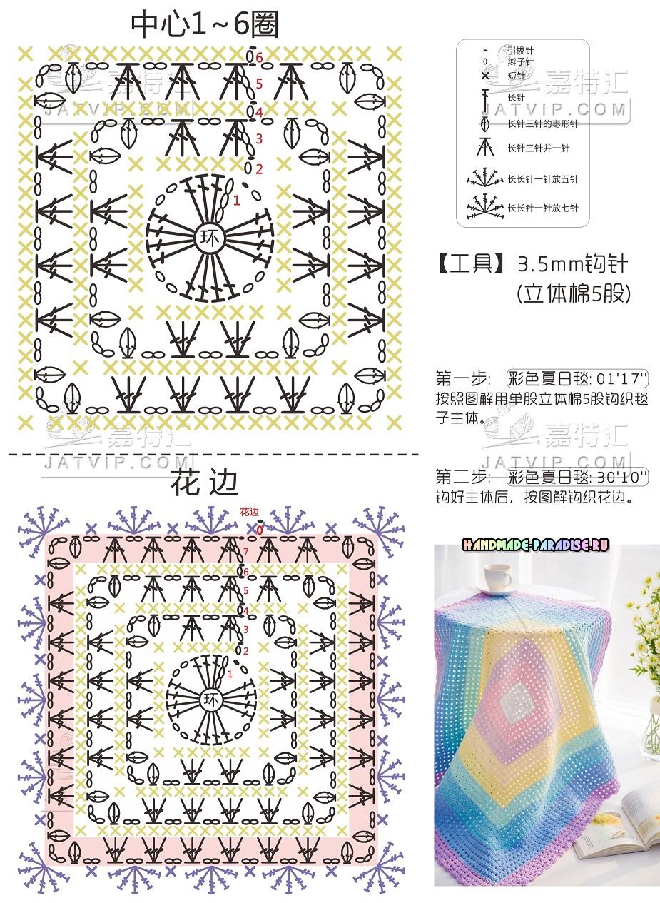 Схемы вязания декоративных салфеток
