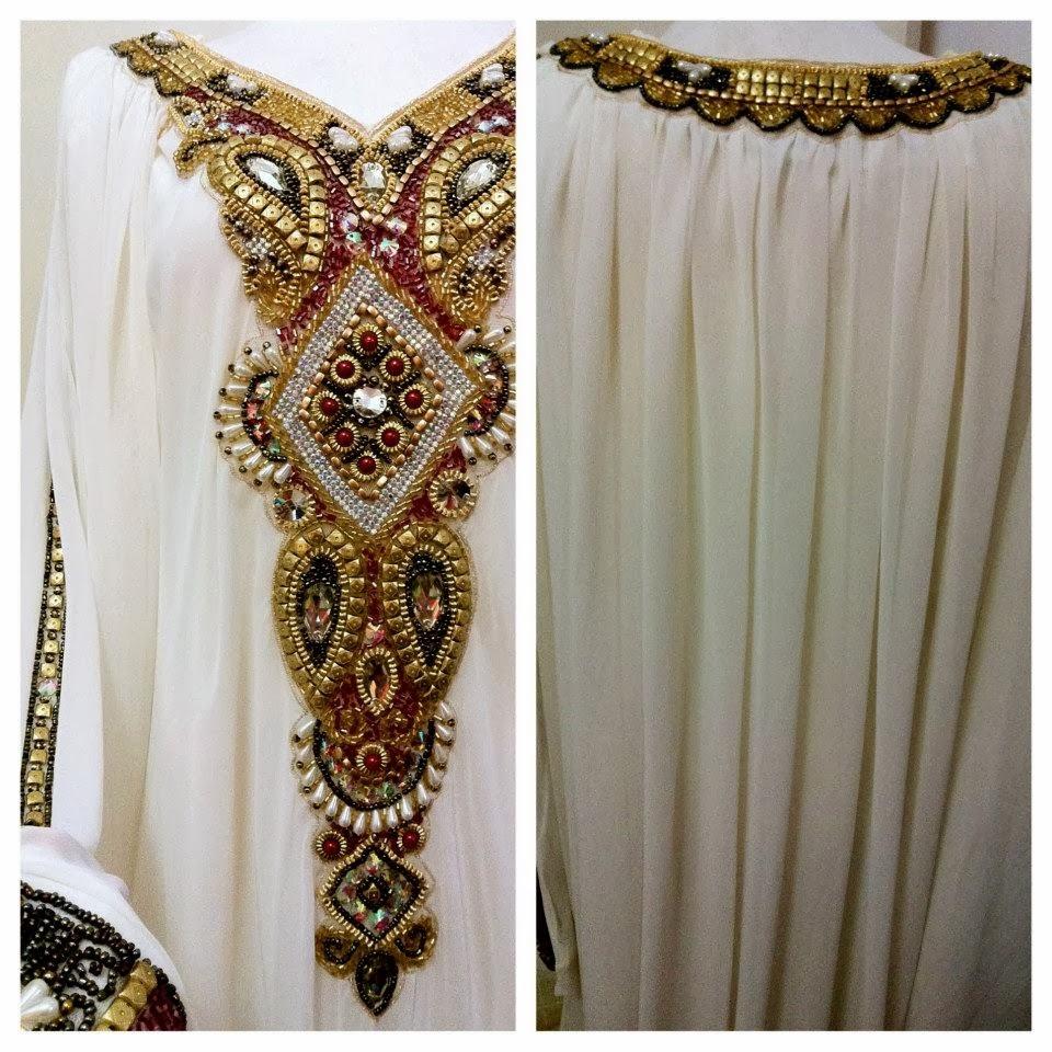 Sheen Sewa Baju Nikah Abaya Arabic Theme Off White
