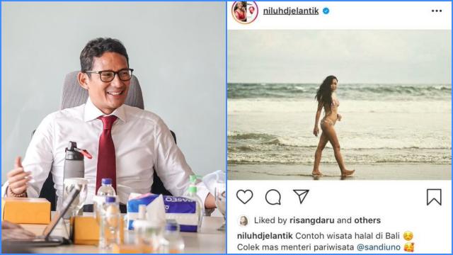 Jadi Menteri Pariwisata, Sandiaga Singgung Wisata Halal, Politikus Nasdem Pamer Pakai Bikini