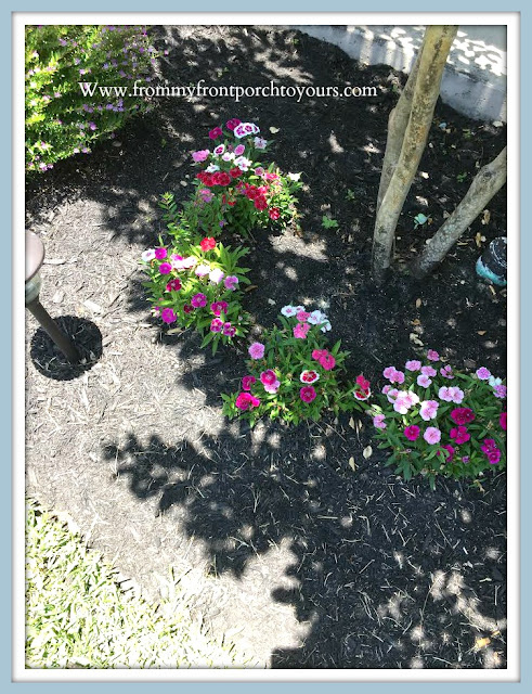 Front -Yard -Garden-Flower-Bed-Flowers-Perennials-From My Front Porch To Yours