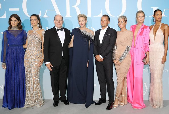 Isabeli Fontana, Alessandra Ambrosio, Orlando Bloom, Katy Perry, Toni Garrn, Lais Ribeiro, Beatrice Borromeo and Tatiana Santo Domingo at gala