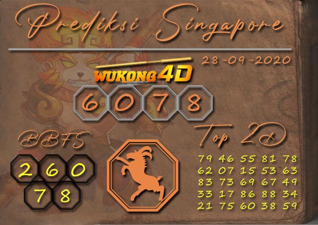 Prediksi Togel SINGAPORE WUKONG4D 28 SEPTEMBER 2020