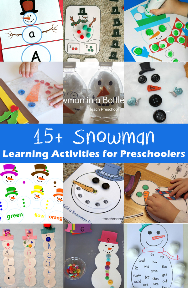 15 Snowman Learning Activities for Preschoolers
