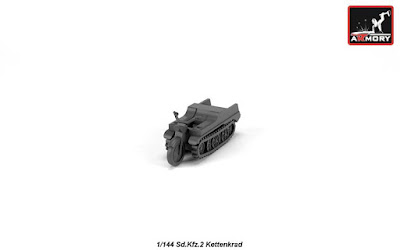 AR M14202 - 1/144 Sd.Kfz.2 Kettenkrad, resin kit picture 3