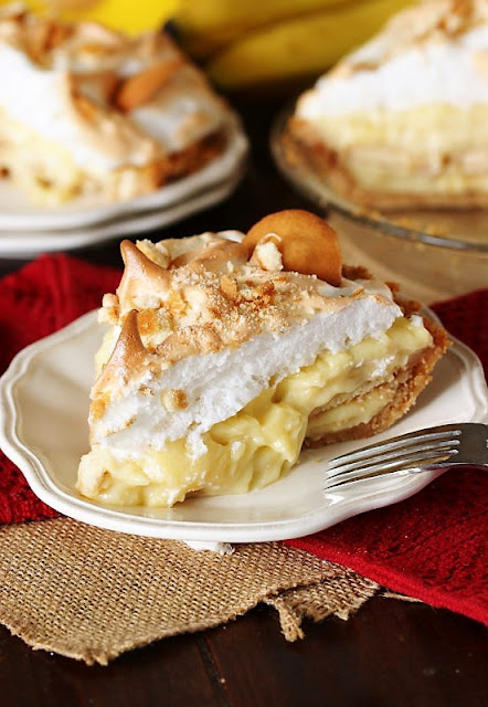 Slice of Banana Pudding Pie Image