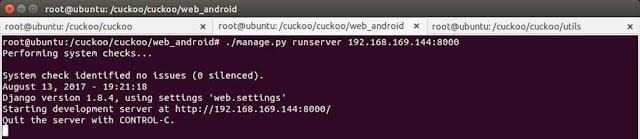 Running CuckooDroid for malicious APK analysis