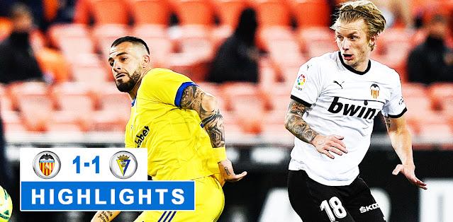 Valencia vs Cádiz – Highlights