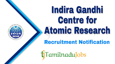IGCAR Recruitment notification 2019, govt jobs for ITI,