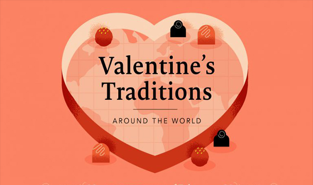 Traditions of Valentine from all over the world #infographic