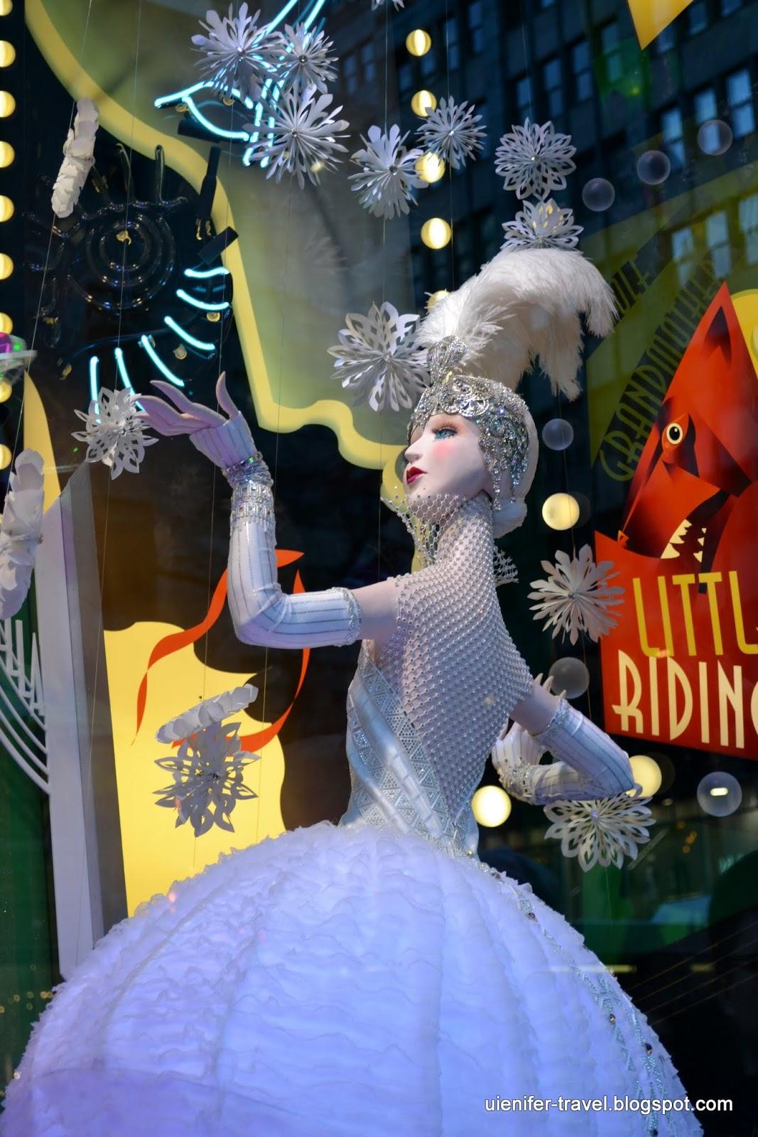 Рождественский Нью-Йорк 2014 - витрины Saks