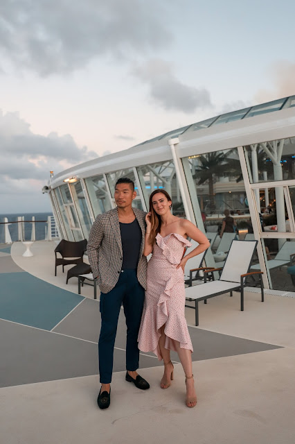 Couple Alicia Mara and Leo Chan on the Oasis of the Seas