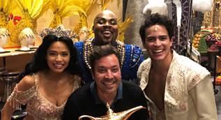 Jimmy Fallon meets the Genie, on Broadway at Aladdin