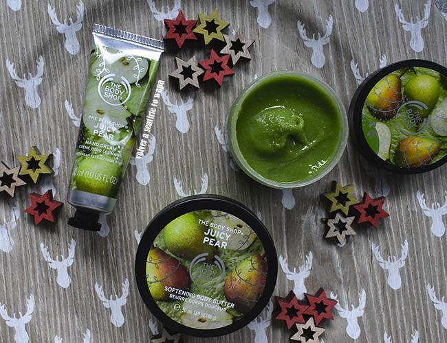 Ediciones de Navidad de The Body Shop - gama de  Pera - Juicy Pear
