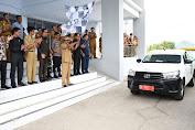 Bupati Soppeng Lepas Logistik Pilkades Serantak di Soppeng
