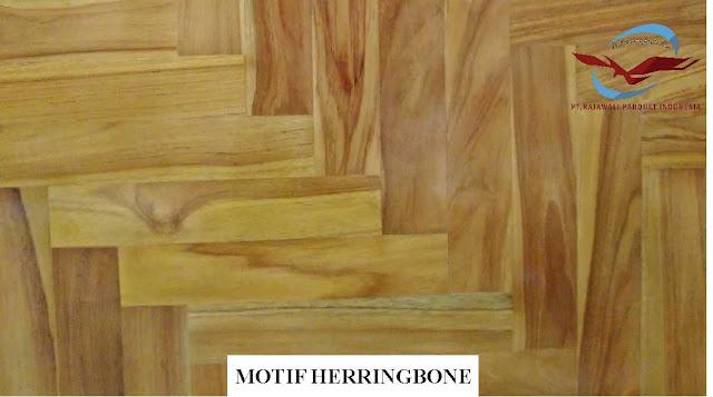 motif lantai kayu herringbone