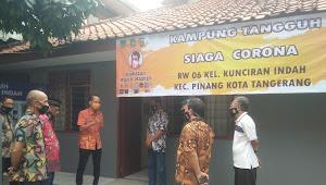 Mantab ! Wilayah RW 06 Deputi Kampung Tangguh Siaga Corona Kelurahan Kunciran Indah di Tingkat Kecamatan Pinang