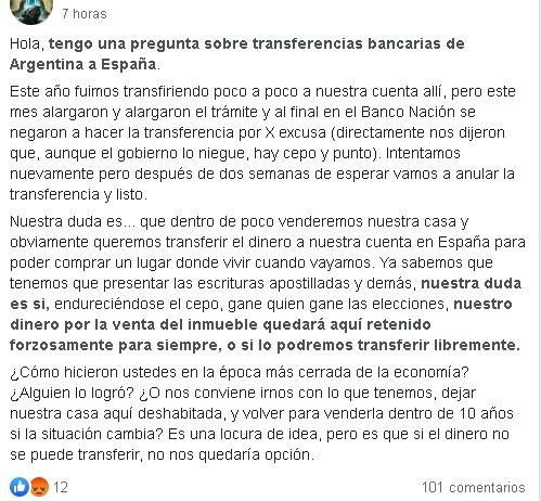 Cómo llevar dinero a España desde Argentina