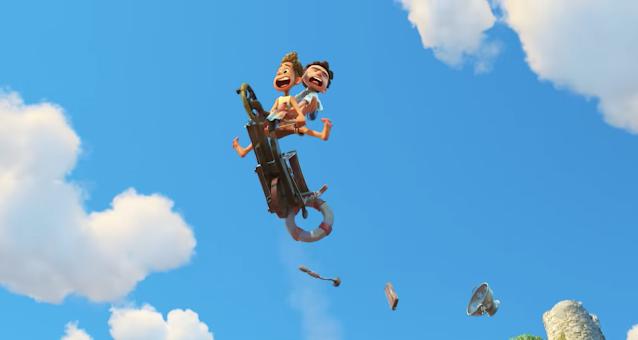 Luca and Alberto On Bike In The Air Pixar Luca Disney