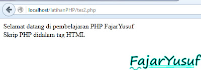 PHP dalam HTML