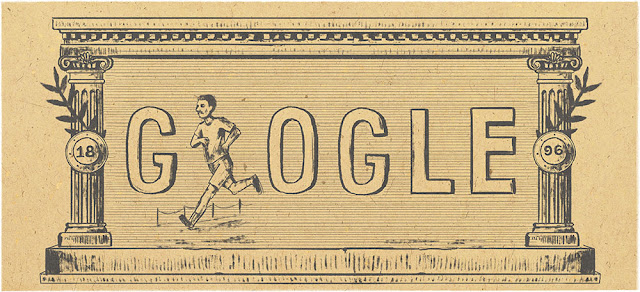 120th Anniversary of First Modern Olympic Games - Google Doodle