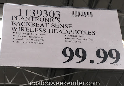 Deal for the Plantronics BackBeat SENSE Wireless Bluetooth Headphones at Costco