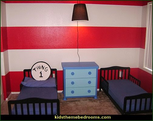 Cat in the Hat bedroom  Dr. Seuss Pennant Banner  Dr. Seuss Cat In The Hat Dr Seuss bedroom dr seuss wall decorations