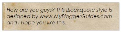 Blogger Blockquote Style 27