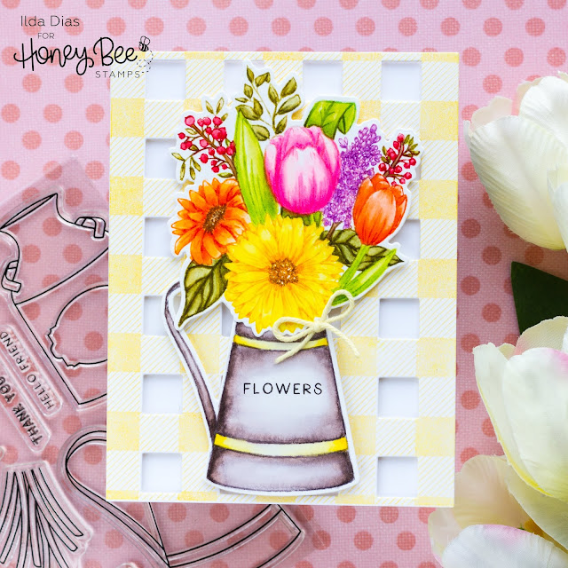 Farm Fresh Flowers Thank You Card | Honey Bee Stamps 5th Anniversary Release Day 1 Blog Hop
