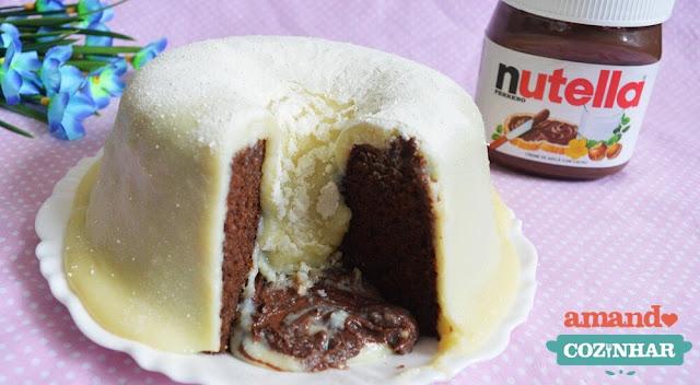 bolo vulcão ninho e nutella